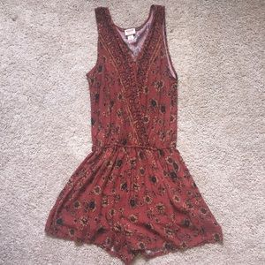 MOSSIMO Rust Floral Romper